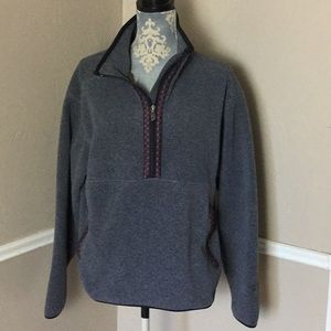 Native Ribbon Pullover Zippers Long Sleeve Pocket